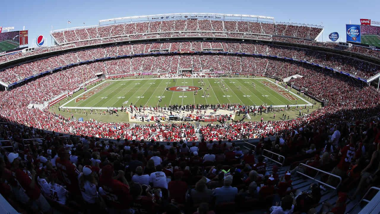 A general view of Levis Stadium is shown during an NFL football game between the 49ers and the Chiefs in Santa Clara, Calif., Sunday, Oct. 5, 2014. (AP Photo/Tony Avelar)