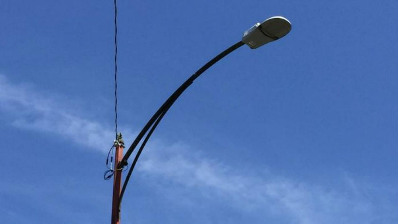 A light pole is seen in San Jose, Calif. in this undated image.