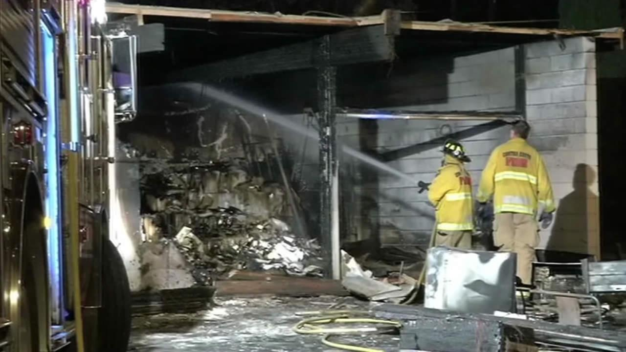Police investigate suspicious fire in Walnut Creek.