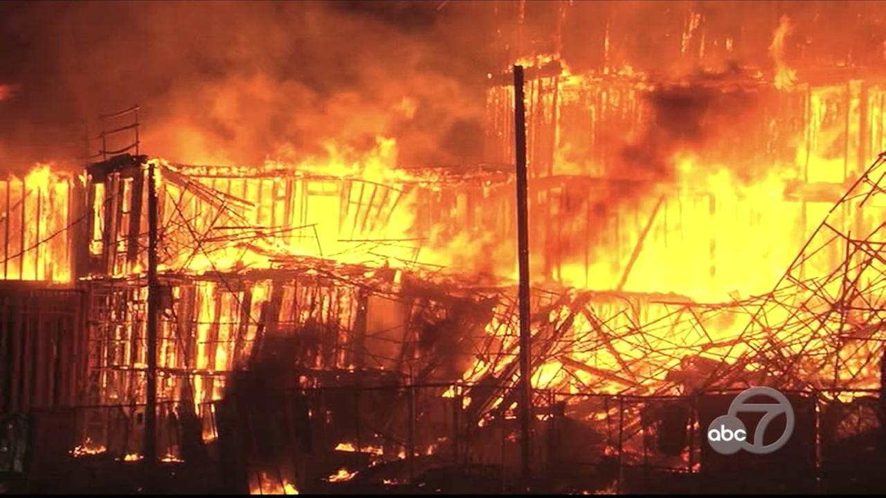 Fire in Concord, California on Tuesday, April 24, 2018.