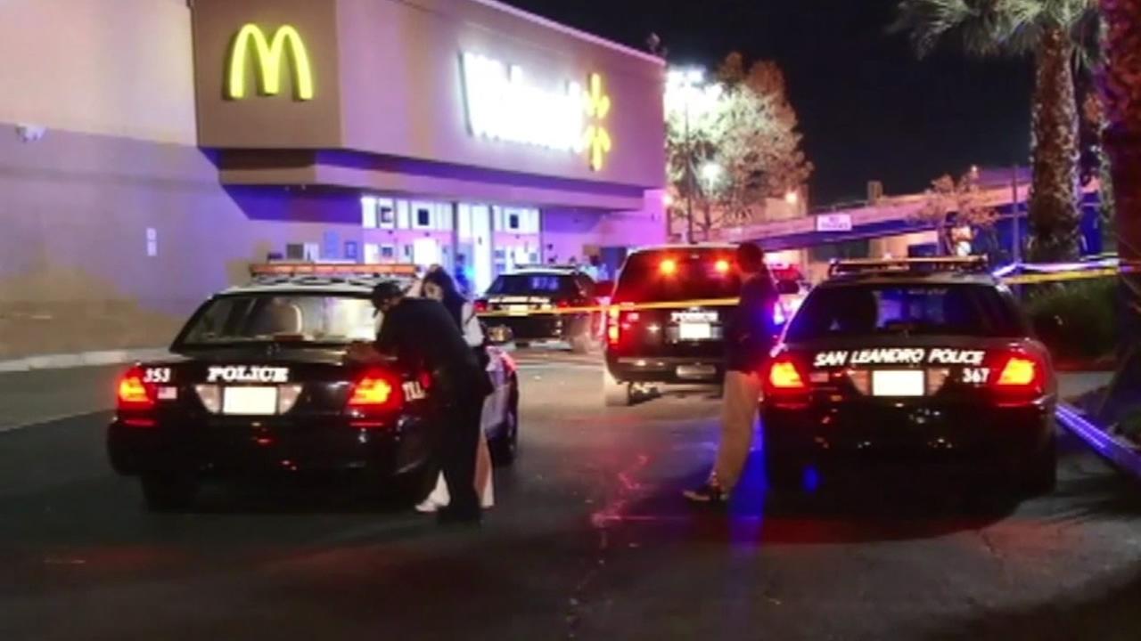 San Leandro Walmart crime scene