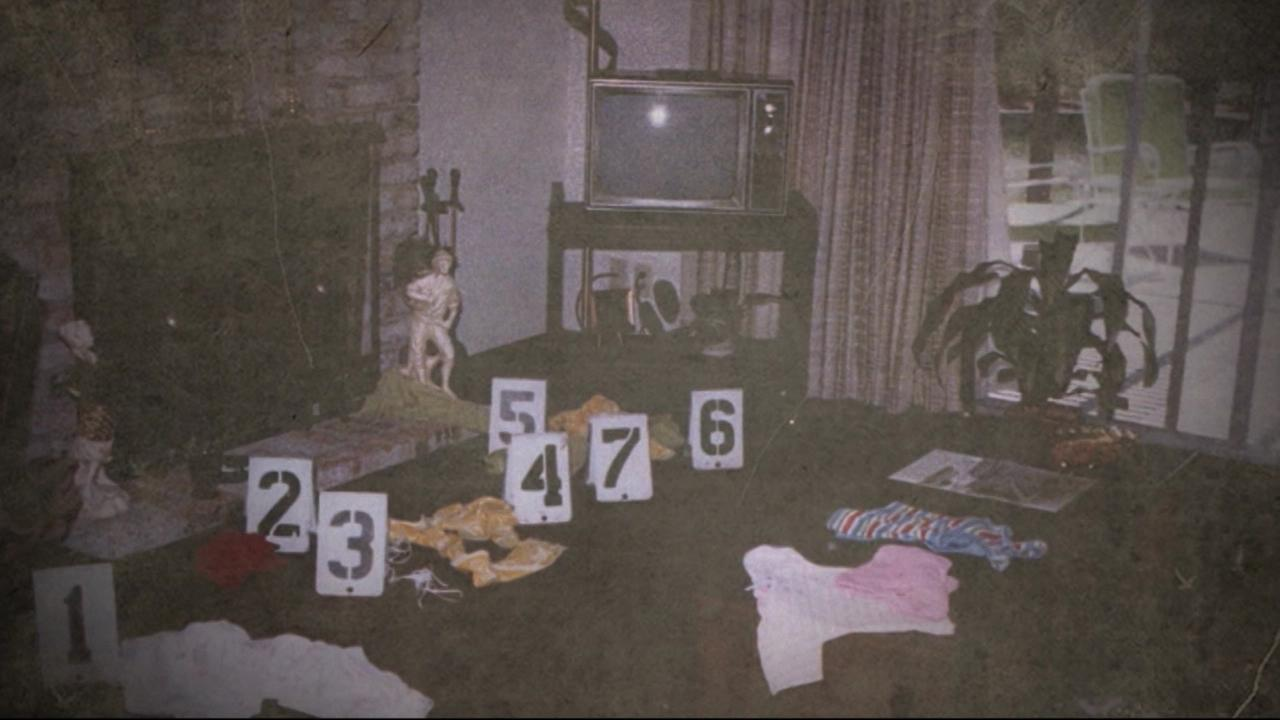 This is an undated image of a crime scene perpetrated by the suspected Golden State Killer.