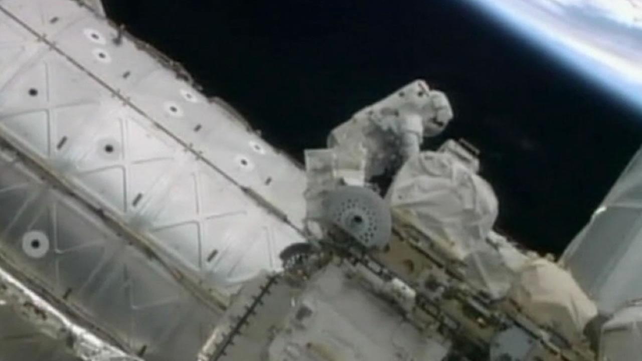 Tuesday marked Nasas first spacewalk in more than a year at the International Space Station.