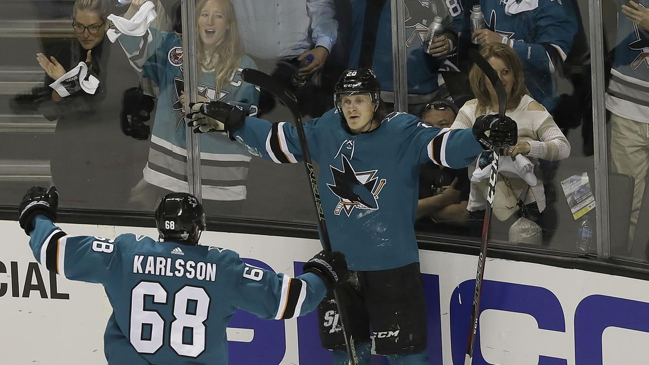 Sharks blank Knights, even series