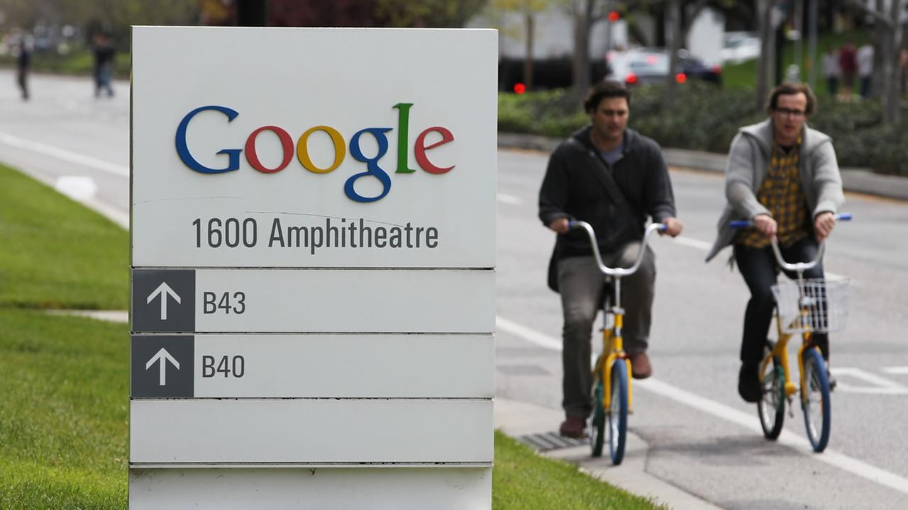 people riding bikes at Google