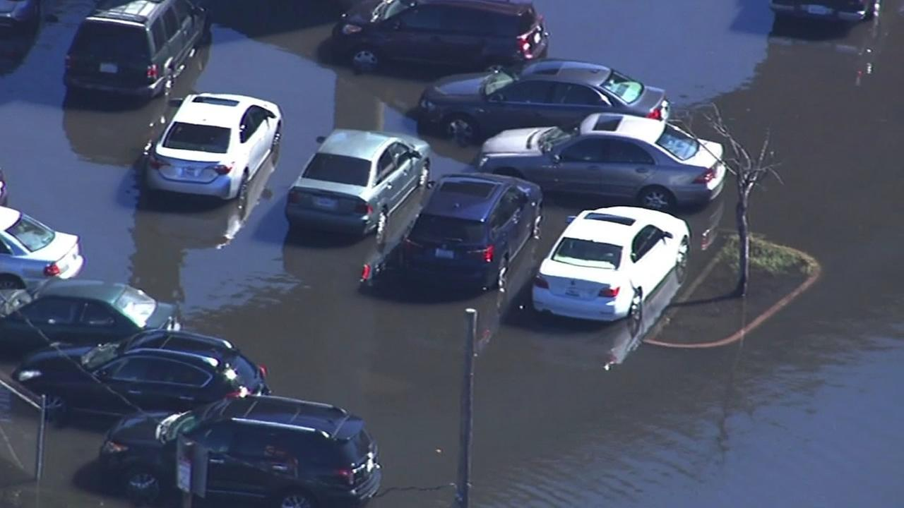 Manzanita Park-and-Ride flooded