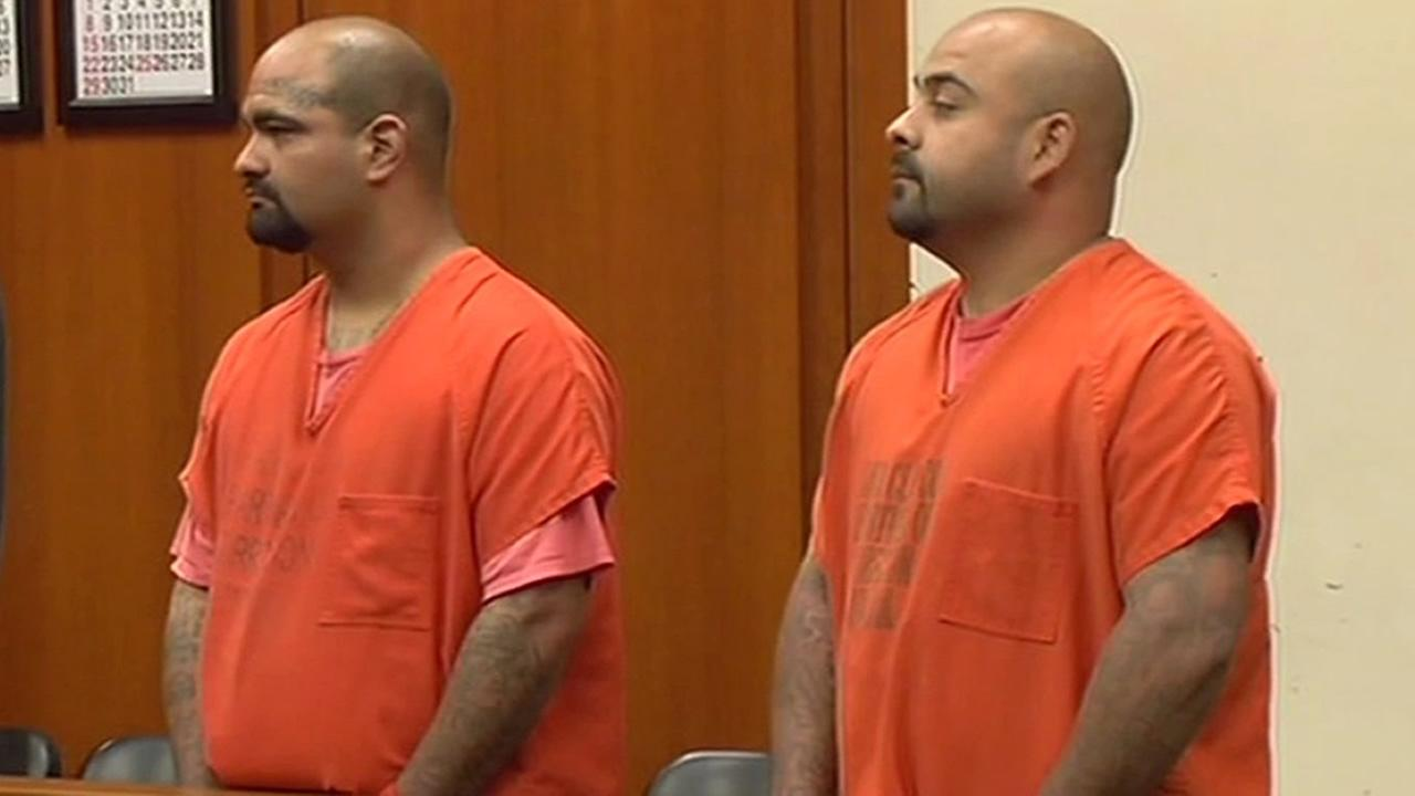 Brothers Amador and Dario Robellero appear in court.