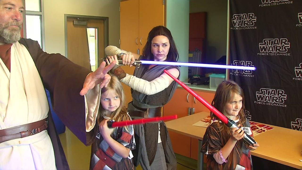 Children play during a Star Wars party at UCSF Benioff Childrens Hospital in San Francisco.