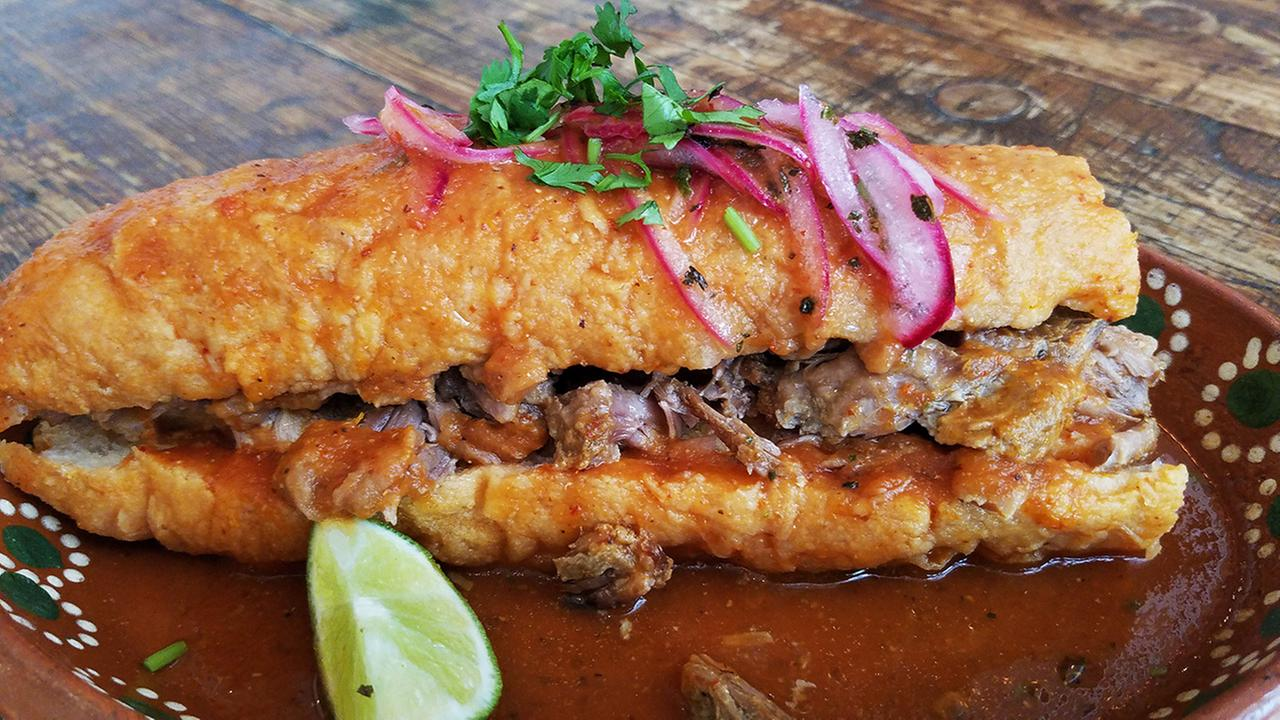 The torta ahogada (drowned sandwich) is one of the favorite foods of Mexicans in the state of Jalisco, whose cuisine will be featured this year at San Franciscos MexAm Festival.