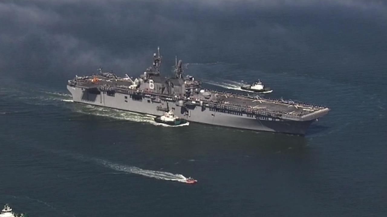 Navy\u0027s newest assault ship USS America on display in San Francisco ...