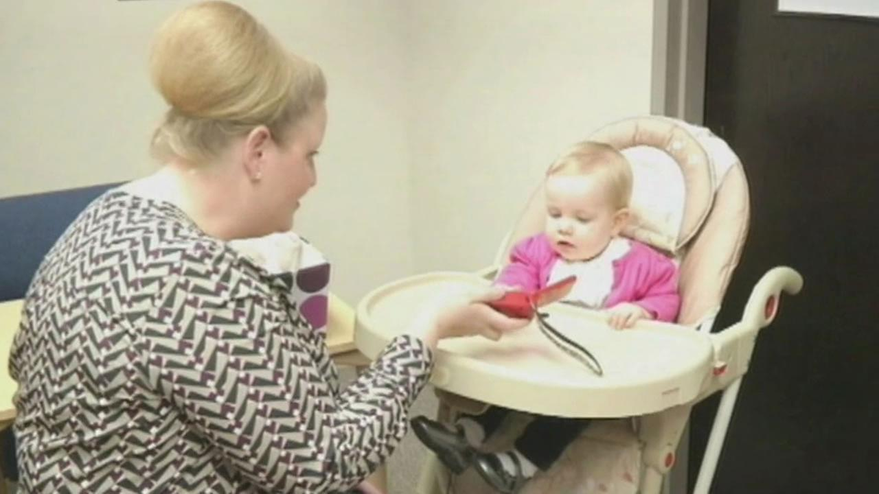University of Kansas researchers are studying how babies develop language.