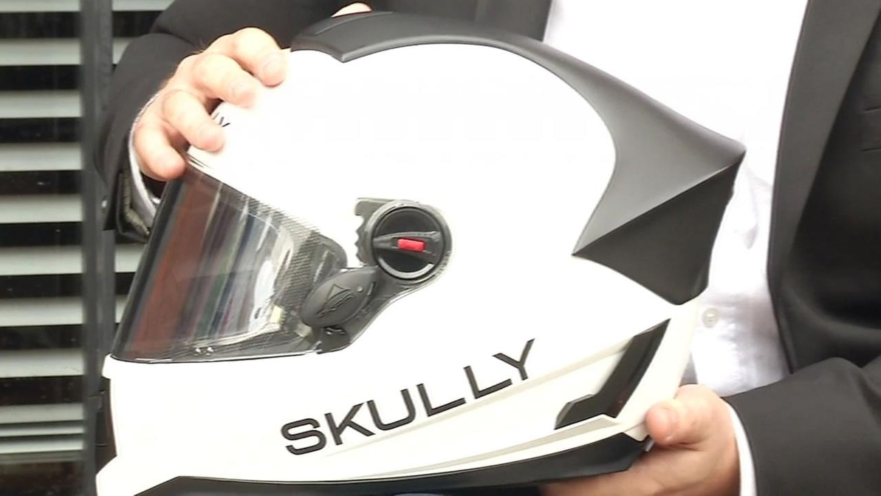 SKULLY motorcycle helmet.