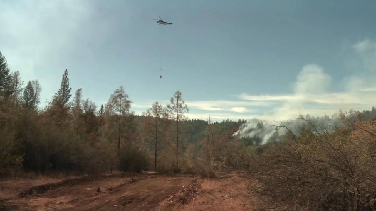 fire along Interstate 80 in Placer County