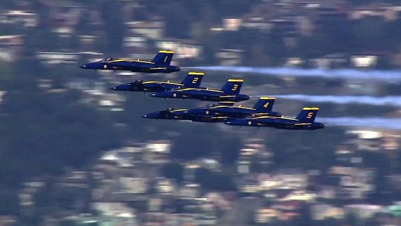 Blue Angels soar above the Bay Area for Fleet Week.