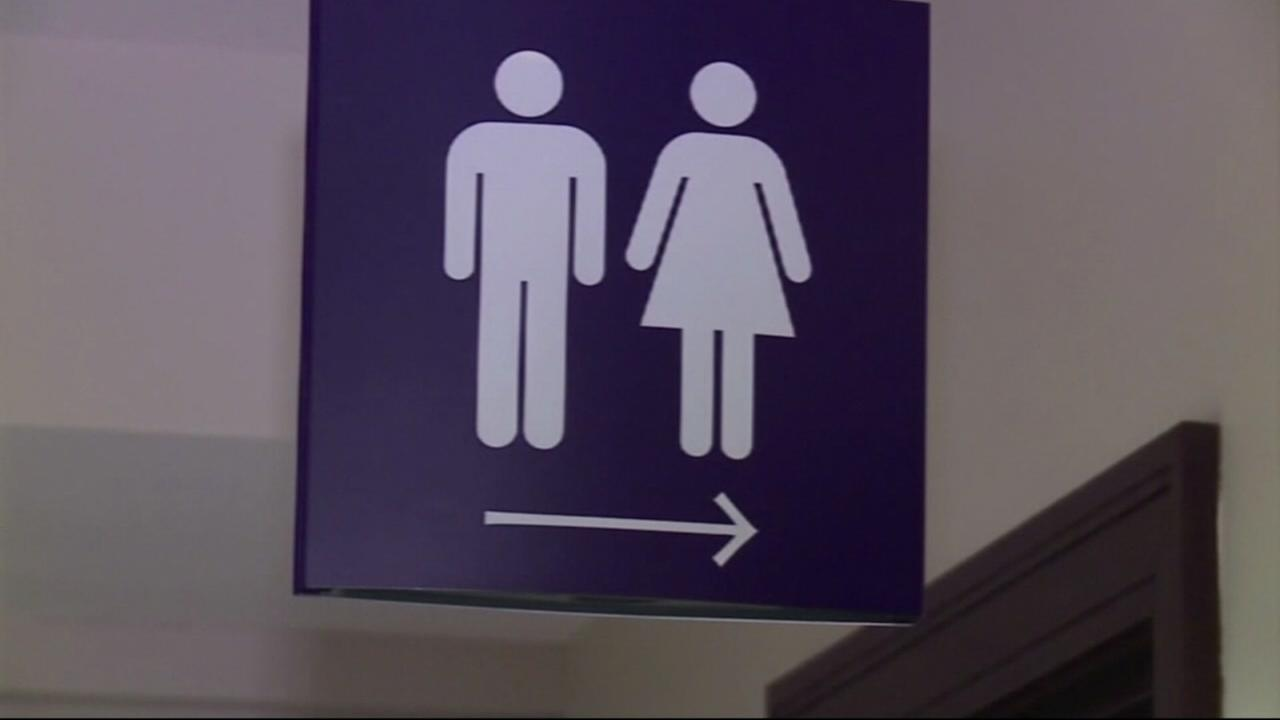 FILE -- Bathroom sign