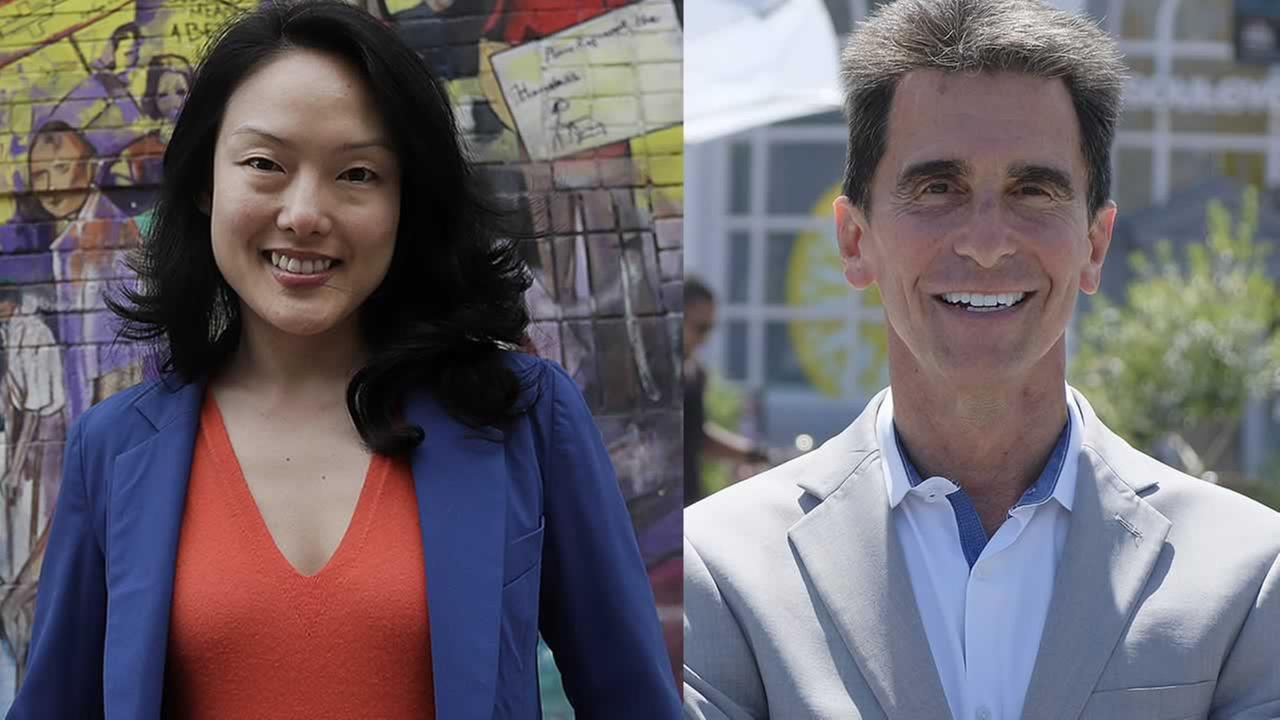 Jane Kim is pictured next to Mark Leno.