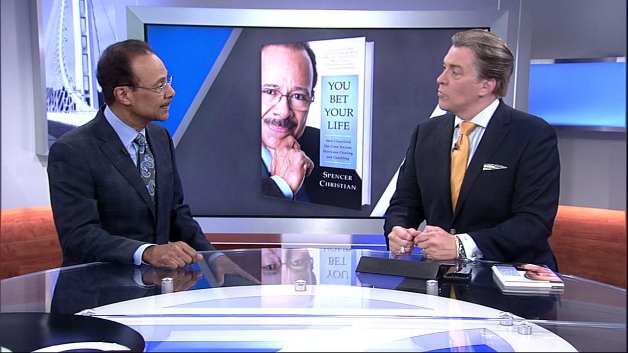 Spencer Christian is interviewed by ABC7 anchor Dan Ashley on his new book, You Bet Your Life on Friday, May 11, 2018.