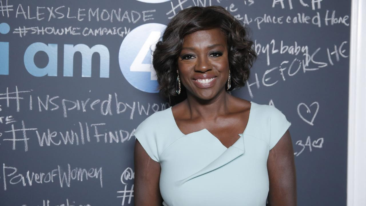 Viola Davis arrives at the 2014 Variety Power Of Women at the Beverly Wilshire Four Seasons Hotel on Friday, Oct. 10, 2014, (Photo by Todd Williamson/Invision for unite4:good/AP)