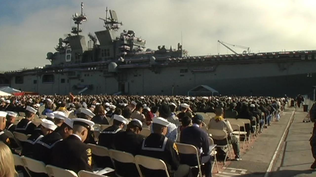 USS American commissioned in San Francisco.