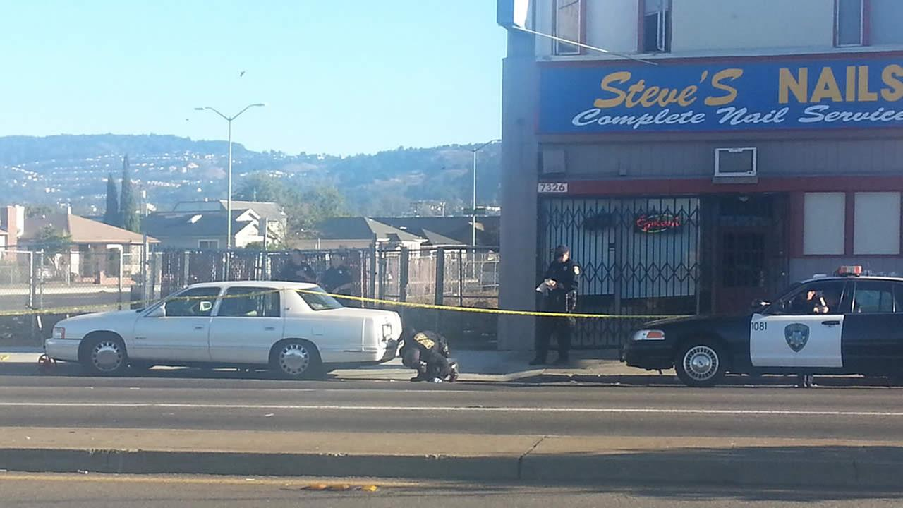 Police investigate shooting in East Oakland that left one person critically injured.