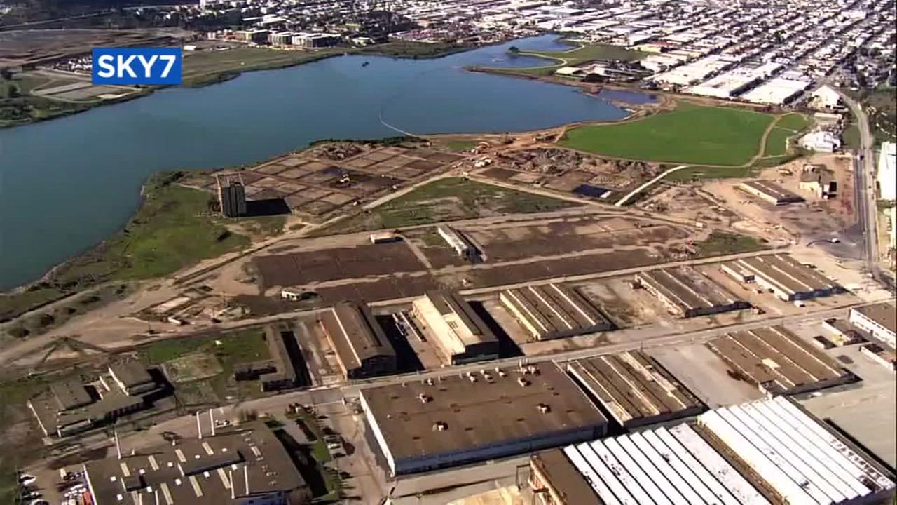 Sky7 was over Hunters Point Naval Shipyard in San Francisco.