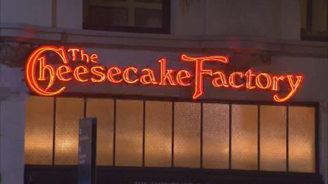 This undated image shows the exterior of Cheesecake Factory restaurant.