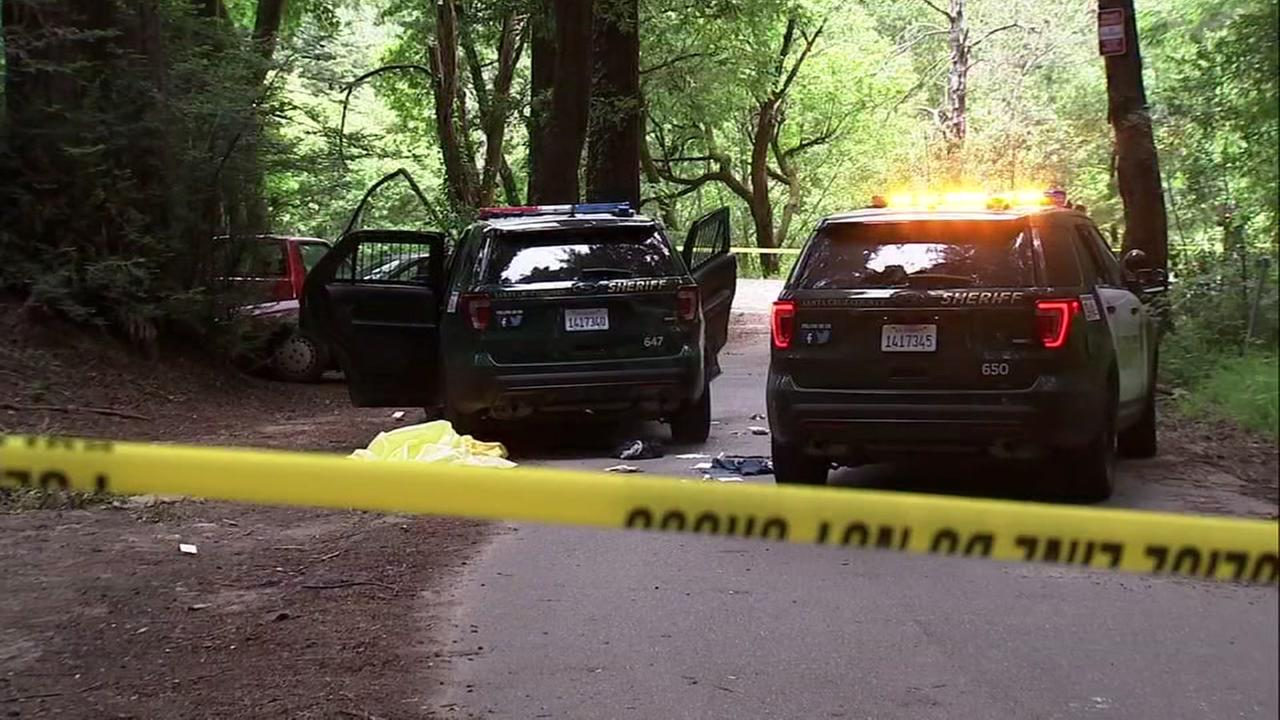 Crime scene in Santa Cruz, California on Friday, May 18, 2018.