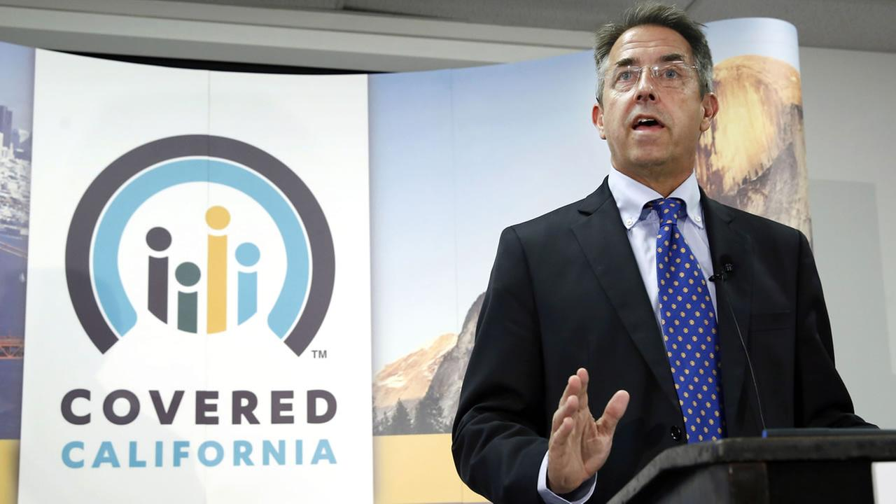 In this Nov. 13, 2013 file photo, Peter Lee, executive director of Covered California, the states health insurance exchange, talks at a news conference in Sacramento, Calif.