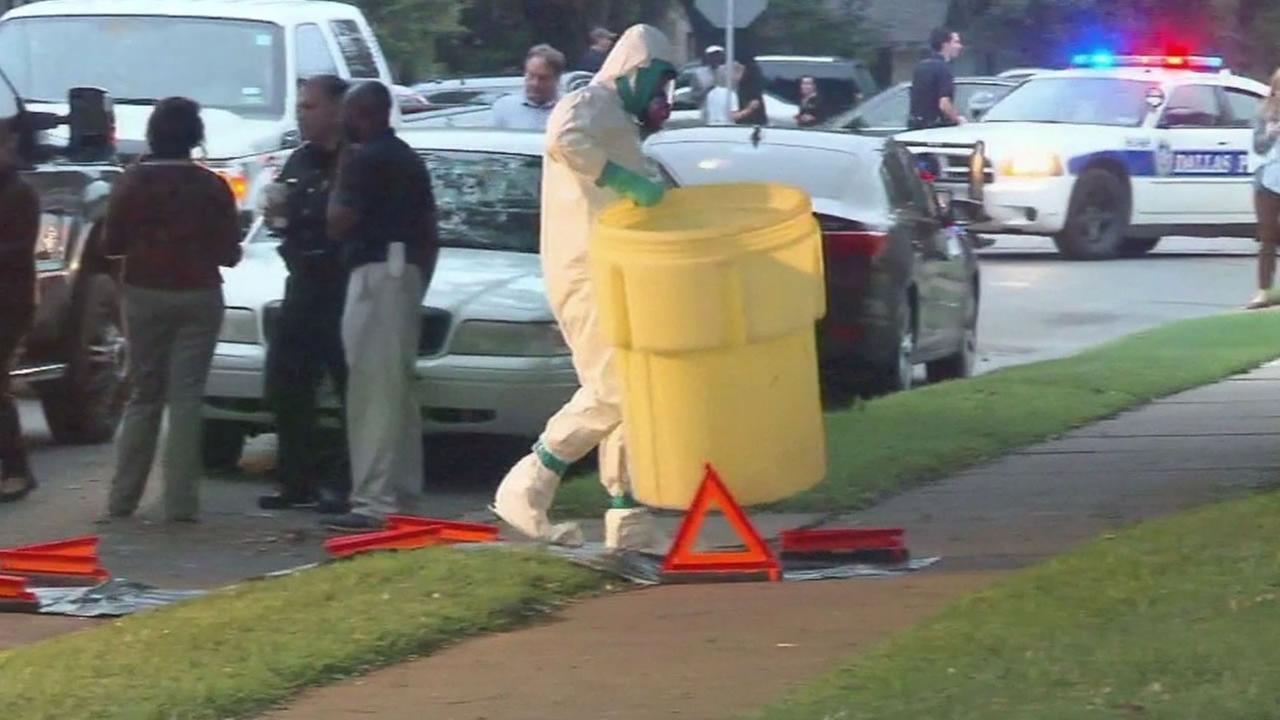 health care worker in haz mat suit