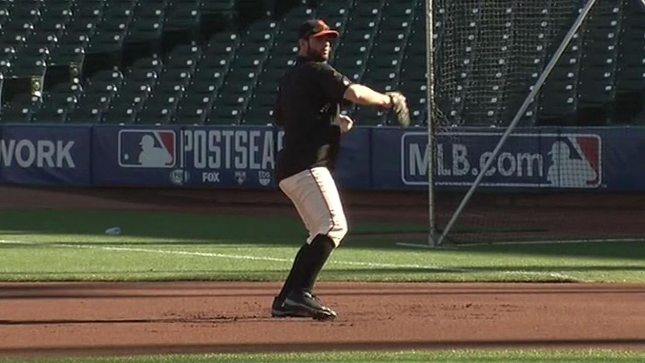 San Francisco Giants at batting practice