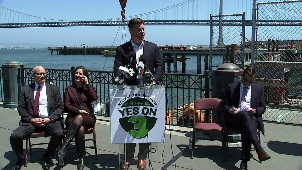 San Francisco Mayor Mark Farrell is seen during a news conference on Monday, May 21, 2018.