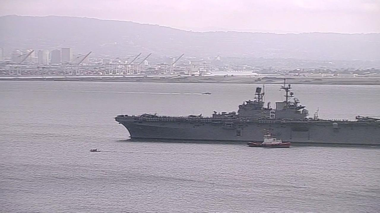 USS America leaves San Francisco