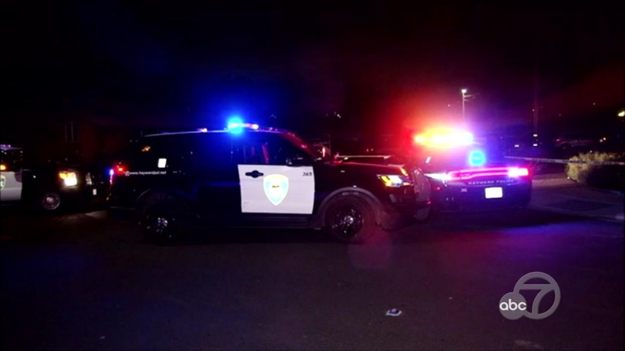 Shooting scene in Hayward, California on Monday, May 21, 2018.