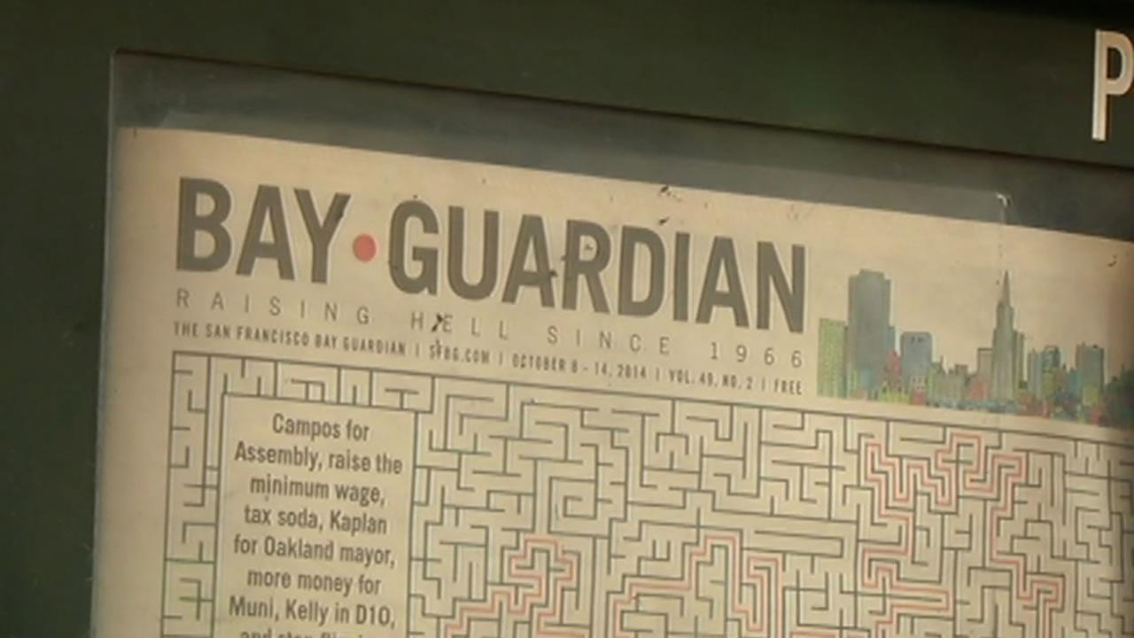 Longtime alternative newspaper the Bay Guardian is shutting its doors. The free weekly known for its progressive stance on politics has been in business for 48 years.