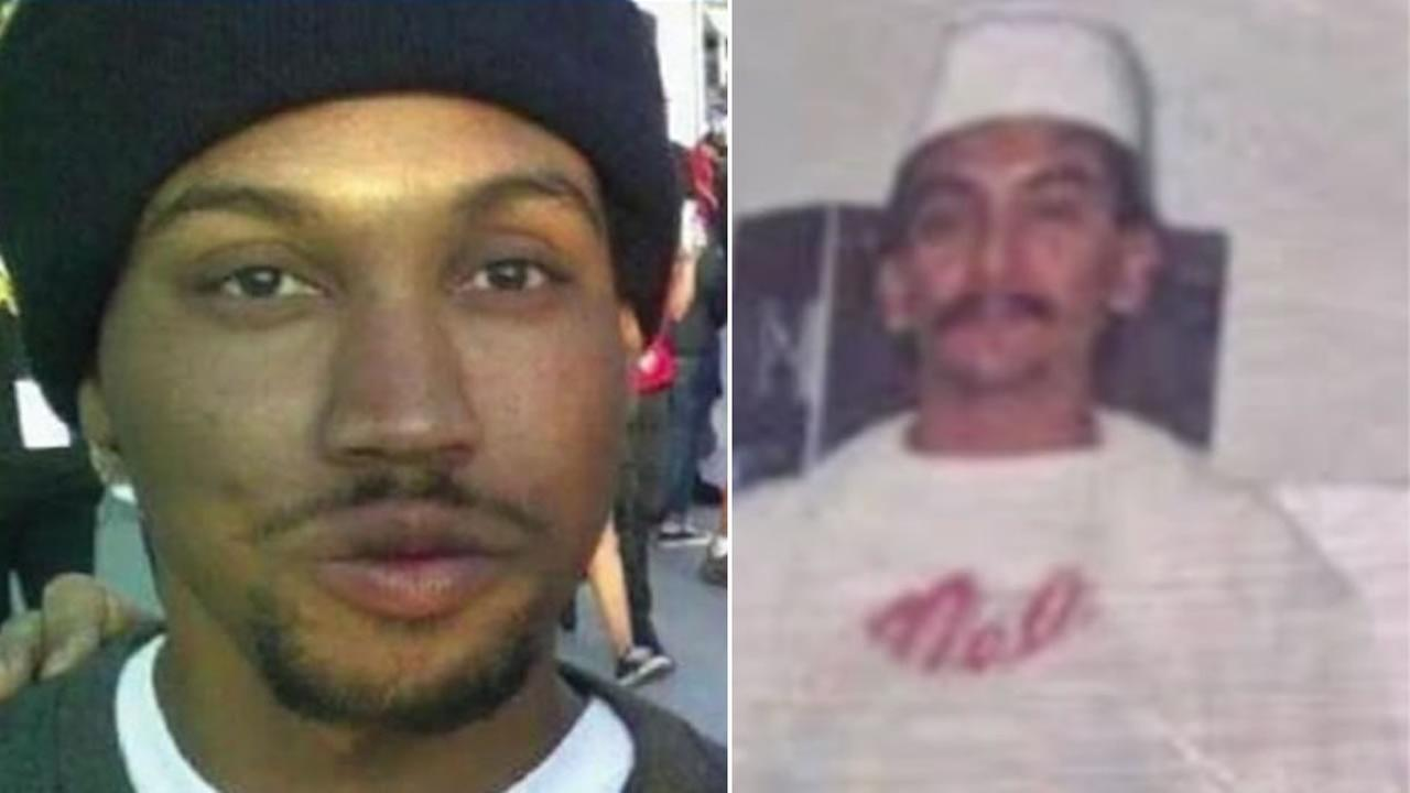 A photo of Mario Woods, left, is next to a photo of Luis Gongora Pat, right.