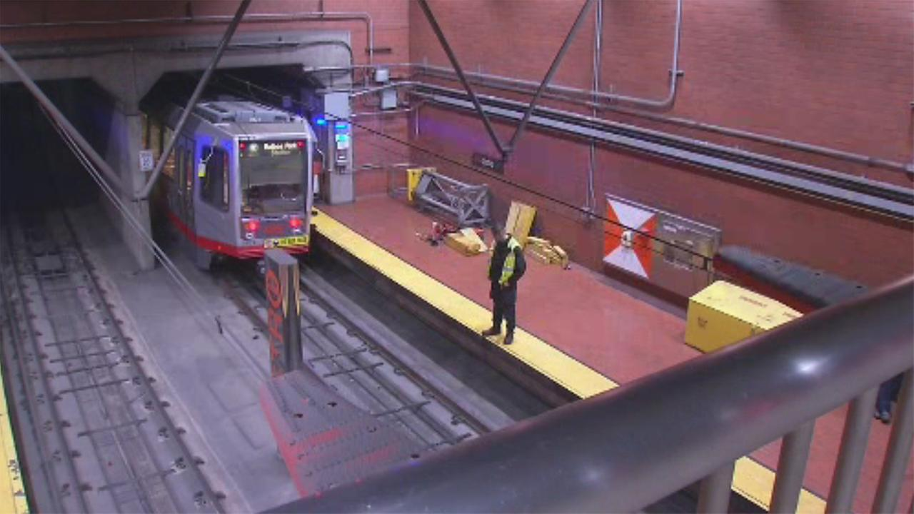 Muni derailment in San Francisco, California on Friday,  May 25, 2018.