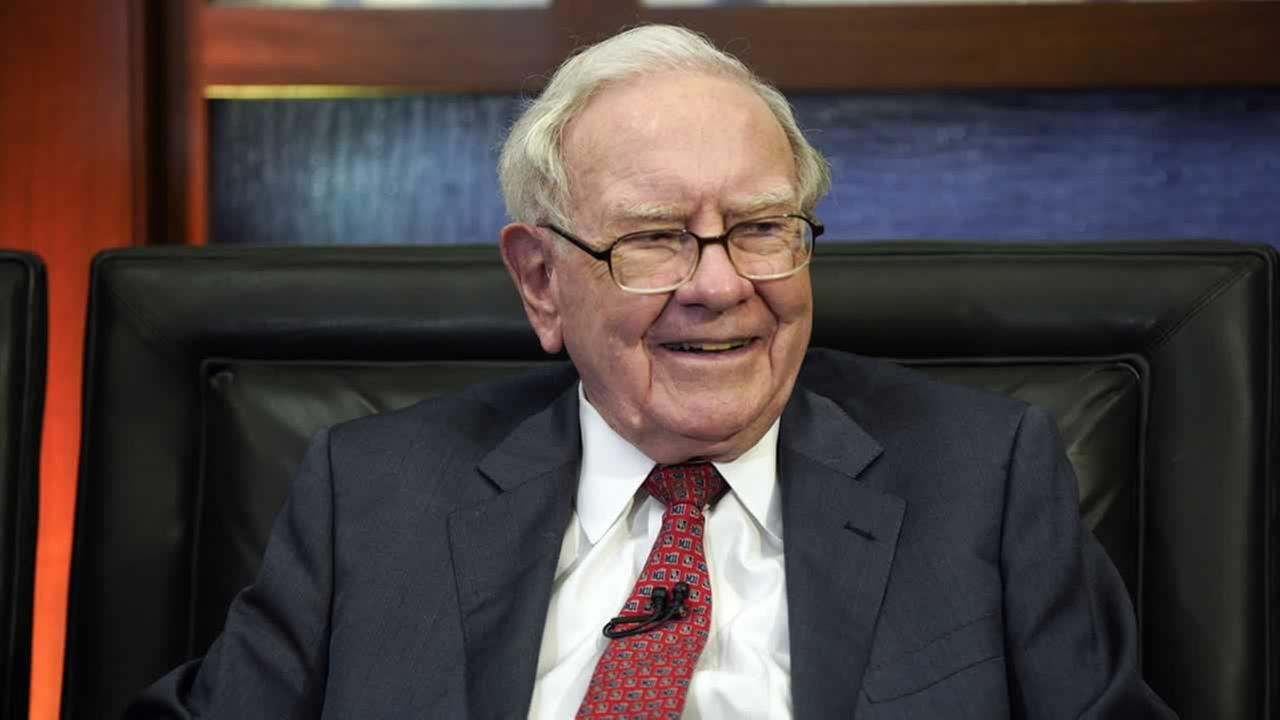 Berkshire Hathaway Chairman and CEO Warren Buffett smiles during an interview in Omaha, Neb., Monday, May 7, 2018.