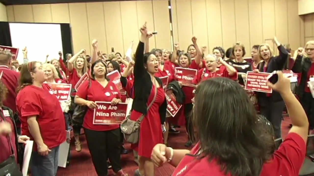 Kaiser nurses demand discussion on Ebola safety and training.
