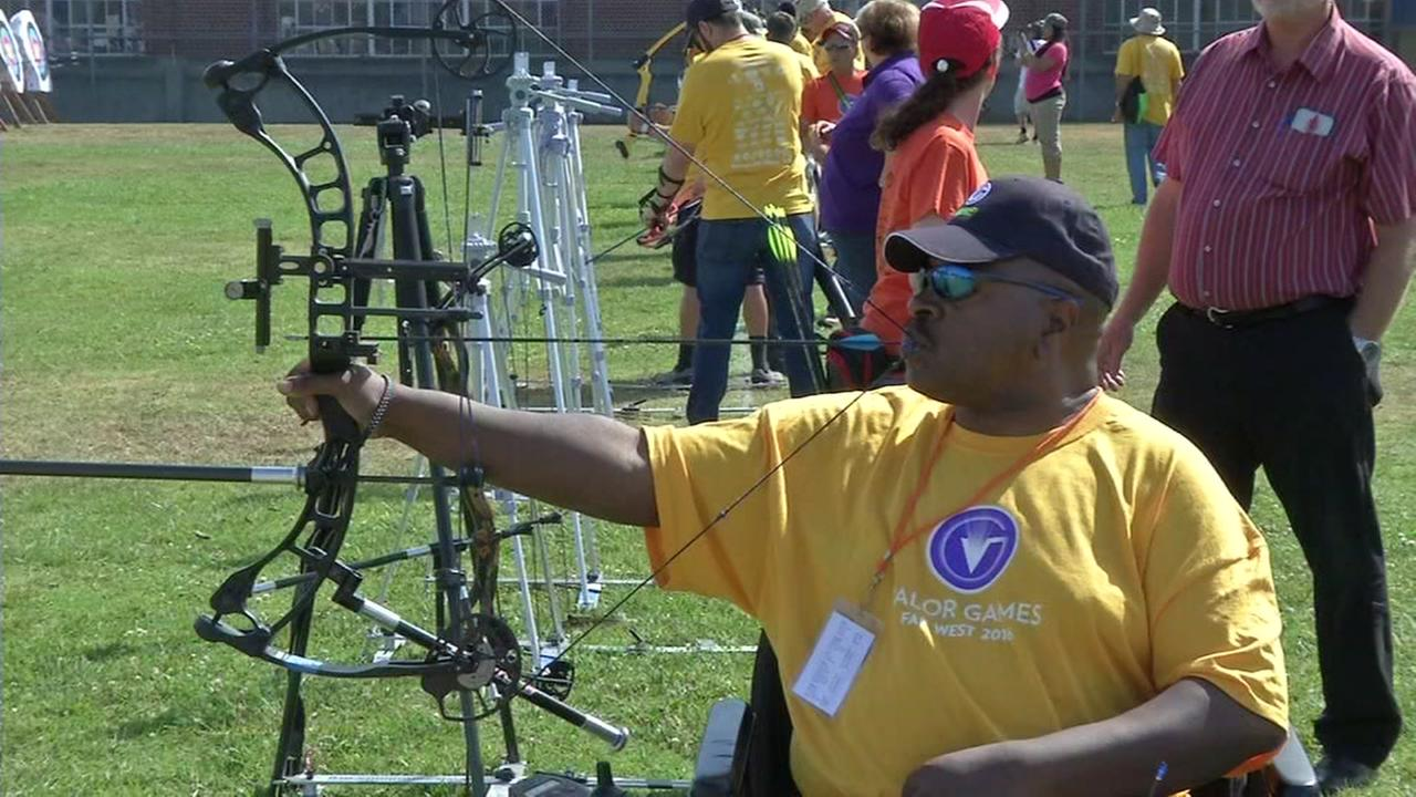 This undated image shows a veteran taking part in the Valor Games.