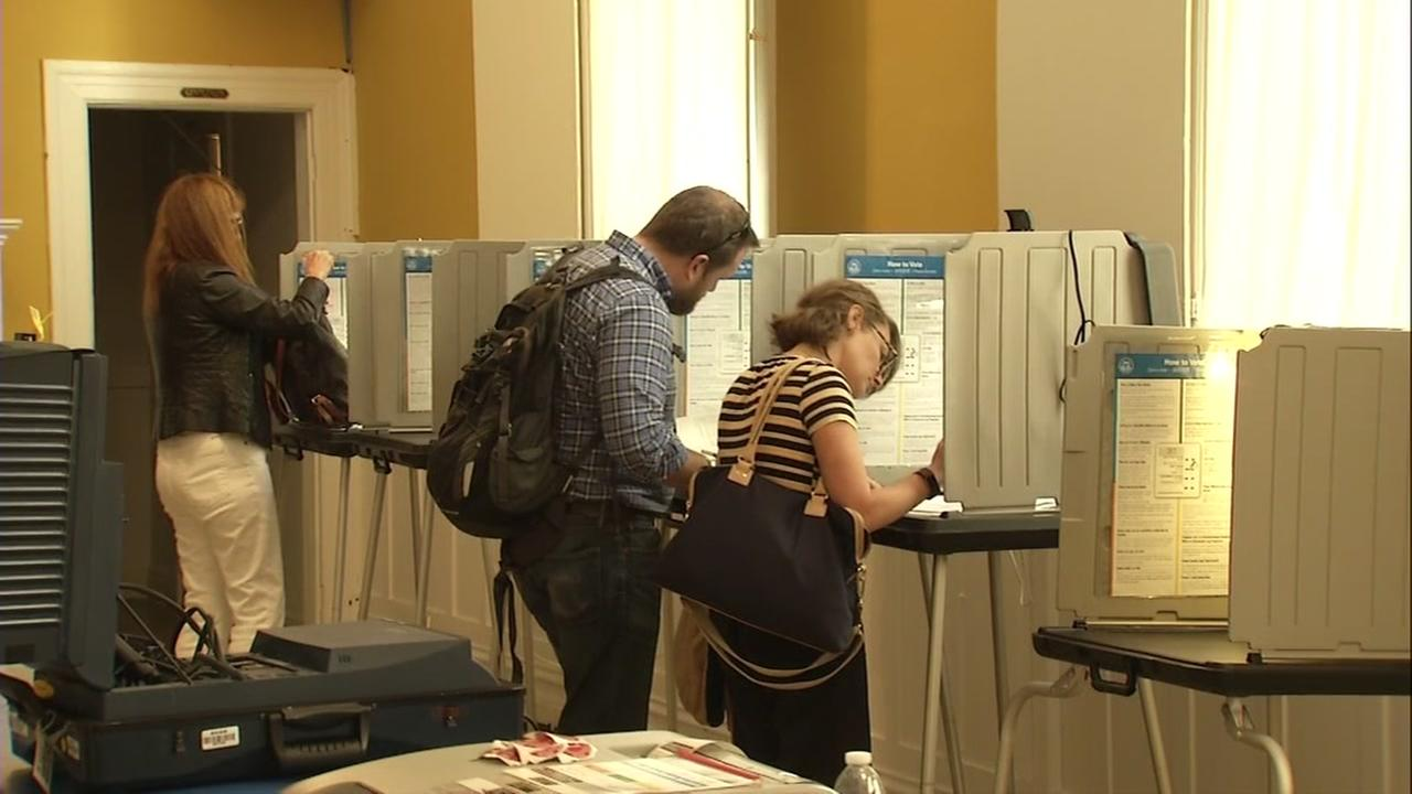Voters fill out their ballots in San Francisco on Tuesday, June 5, 2018.