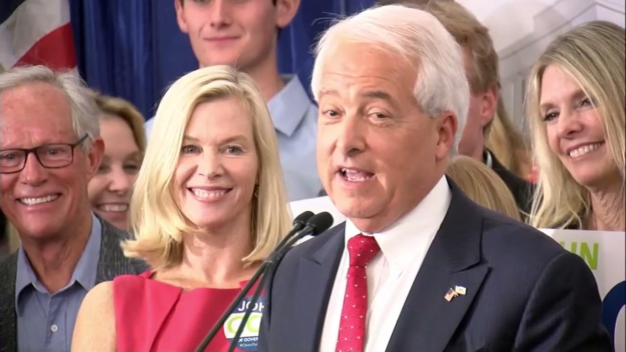John Cox speaks in San Diego on Tuesday, June 5, 2018 after winning the second spot to the November election in the race for California governor.