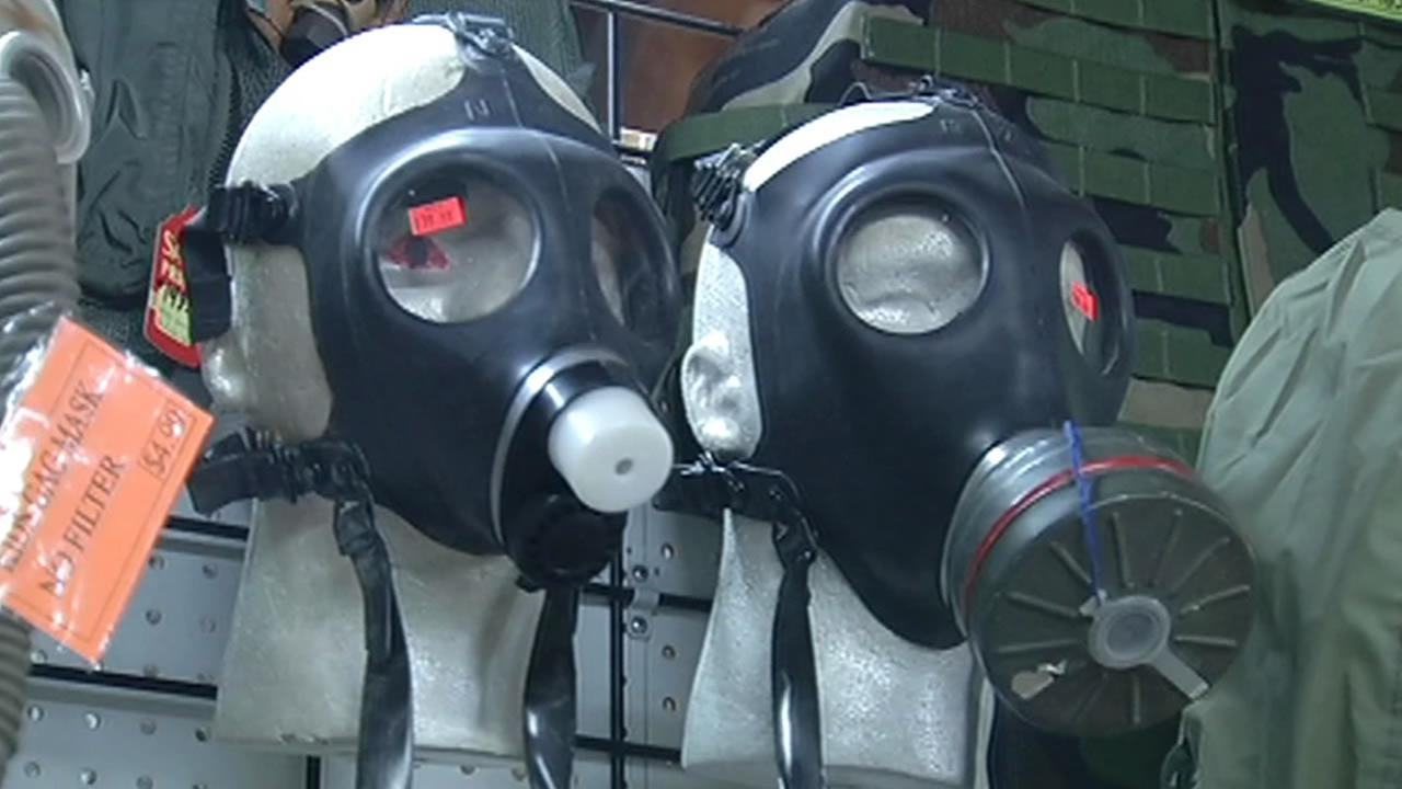 Ebola fears prompt people to buy hazmat suits, gas masks