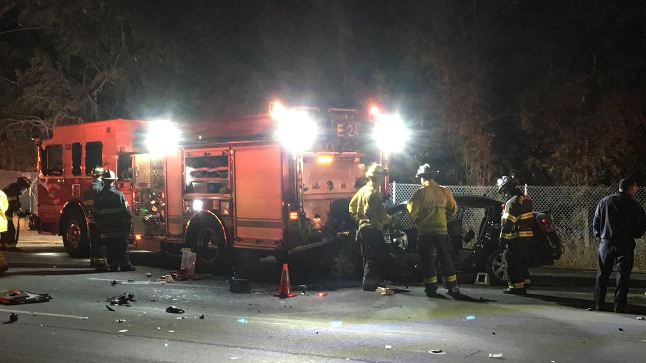 Accident involving fire truck in San Jose, California on Wednesday, June 6, 2018.
