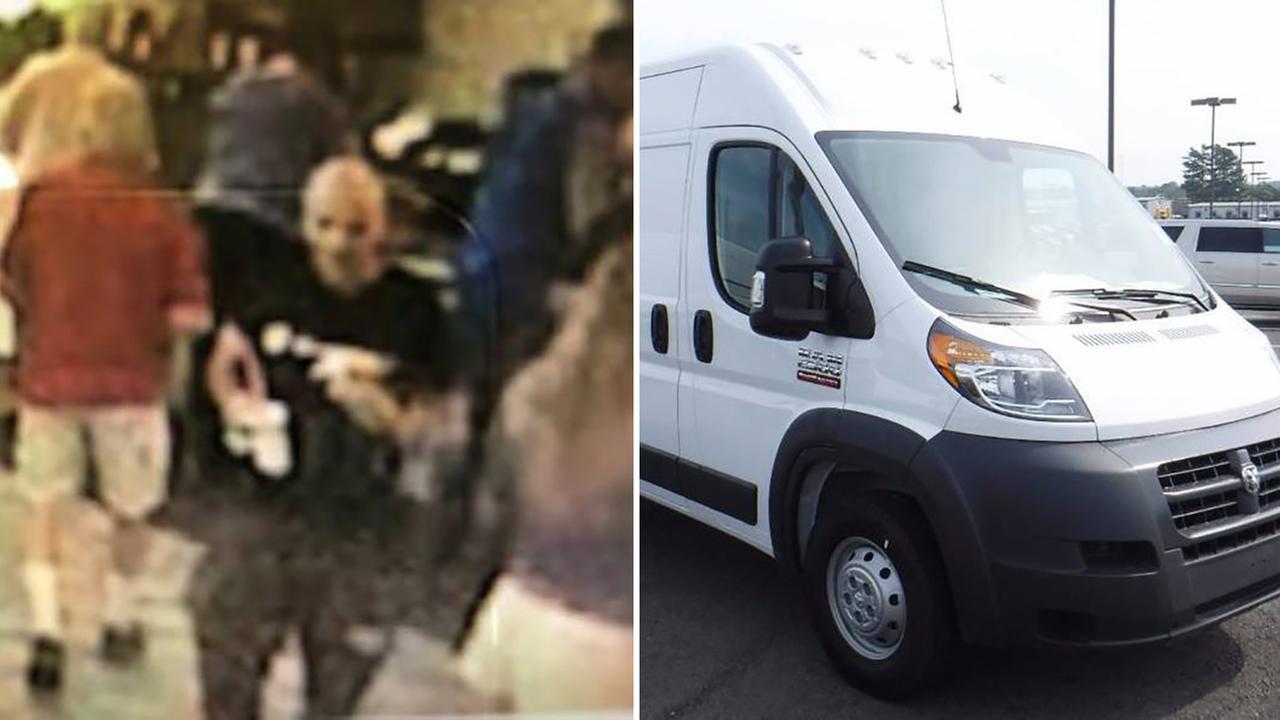 Suspect wanted after dogs stolen in van in Redding California, on Wednesday, June 6, 2018.