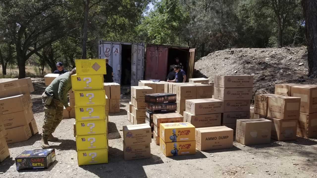 CAL FIRE law enforcement officials seized more than 49,000 pounds of illegal fireworks in California.