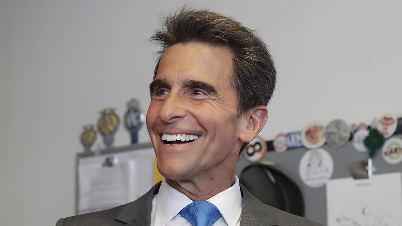 Former state Sen. Mark Leno speaks to reporters in San Francisco, Wednesday, June 6, 2018.