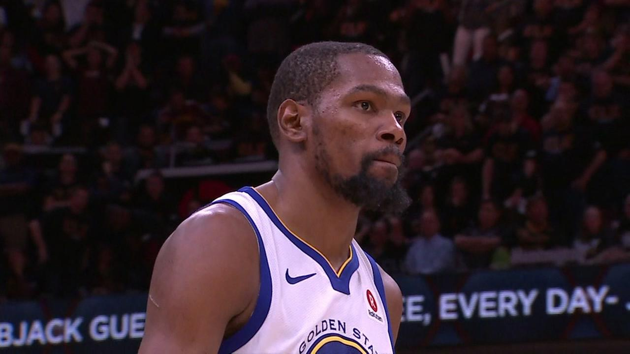 Kevin Durant plays in the NBA Finals on Wednesday, June 6, 2018.