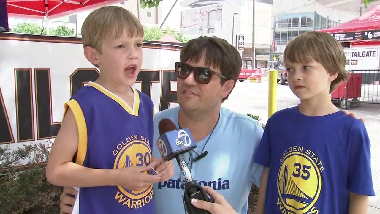 Warriors fans talk to ABC7 News in Cleveland ahead of Game 4 of the NBA Finals on Friday, June 8, 2018.