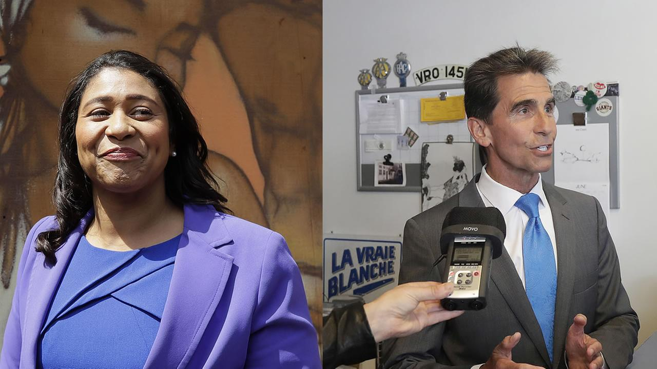 Mark Leno and London Breed appear in this undated split image.