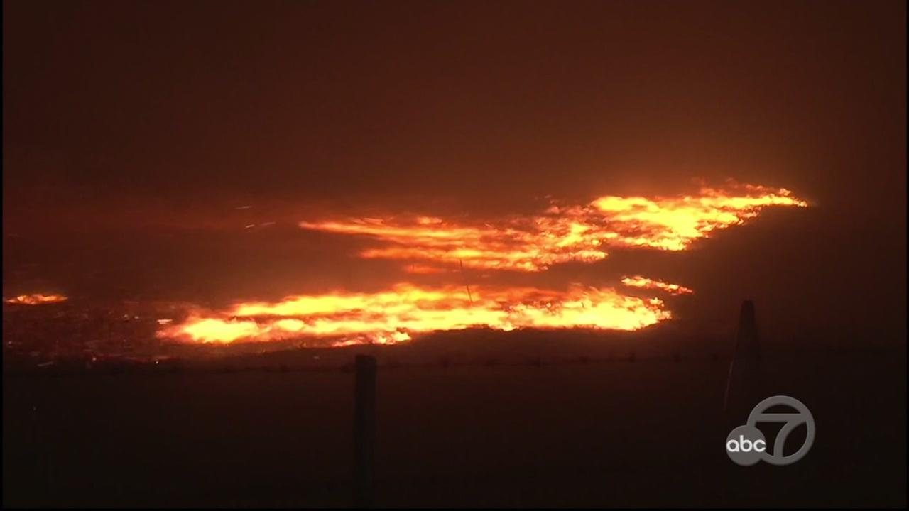 The North Bay fires burn in Oct. 2017.